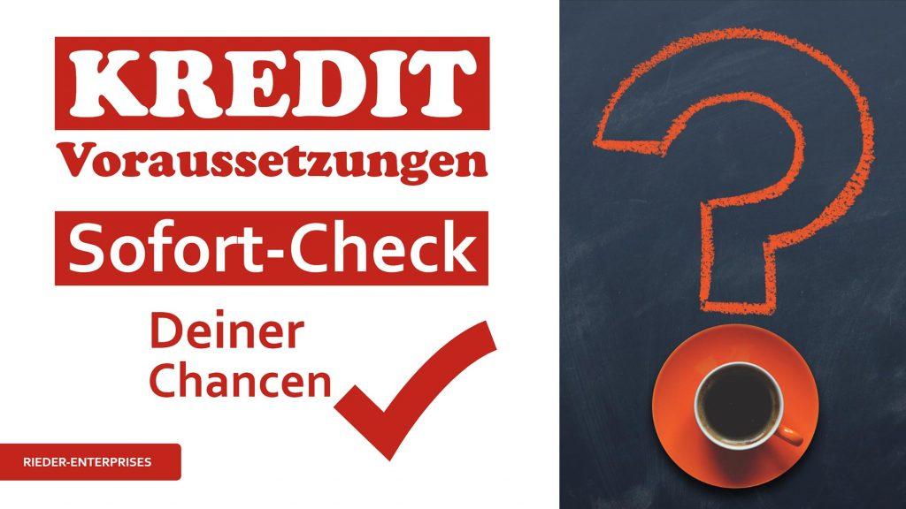 Kredit-Voraussetzungen auf einen Blick