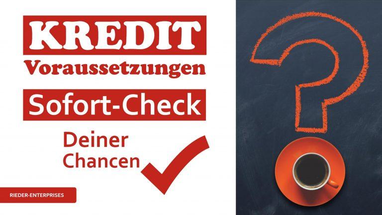 Voraussetzungen für einen Kredit – TOTAL ÜBERBLICK