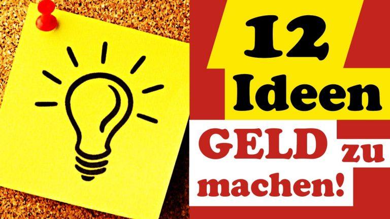 12-Ideen Schnell Geld zu machen